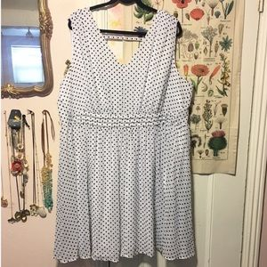 Midi polka dot dress